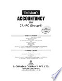 Accountancy with Quick Revision (For CA-IPC, Group -II), 10th Edition
