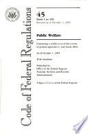 Code of Federal Regulations: Public Welfare