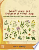 Quality Control and Evaluation of Herbal Drugs Book