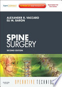 Operative Techniques  Spine Surgery   E Book