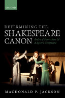 Determining the Shakespeare Canon