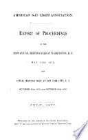 Proceedings of the American Gas Light Association