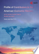 Profile of Contributors to the American Economic Review, 2010: Human Capital Theory, Gender and Race