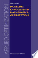 Modeling Languages in Mathematical Optimization