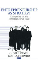 Pdf Entrepreneurship as Strategy Telecharger