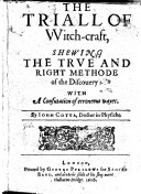 Pdf The Triall of Witch-craft