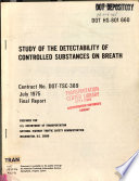 Study of the detectability of controlled substances on breath