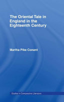Pdf The Oriental Tale in England in the Eighteenth Century Telecharger