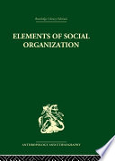 Elements of Social Organisation