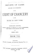 Reports of Cases Adjudged and Determined in the Court of Chancery of the State of New York  1814 1850   Book