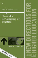 Toward a Scholarship of Practice