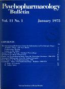 Psychopharmacology Bulletin ebook
