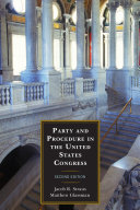 Party and Procedure in the United States Congress Pdf/ePub eBook