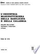 L'industria manifatturiera della Basilicata e della Calabria