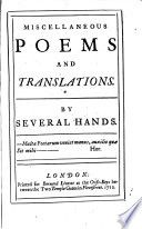 Miscellaneous Poems and Translations