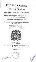 Dictionnaire des ouvrages anonymes et pseudonymes en français: A-L; 2. M-Z; 3. Supplément A-V; 4. Tables A-Z