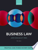 """Business Law"" by James Marson, Katy Ferris"