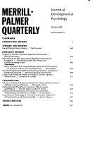Merrill Palmer Quarterly