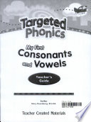 Targeted Phonics My First Consonants And Vowels