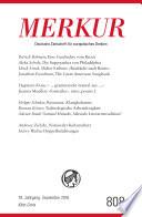 MERKUR Deutsche Zeitschrift für europäisches Denken - 2016-09  : Heft 9 / September 2016