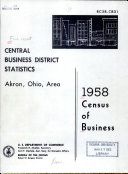 Census of Business, 1958: Central Business District Statistics