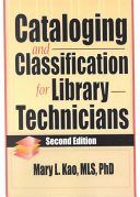 Cataloging and Classification for Library Technicians