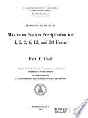 Maximum Station Precipitation for 1  2  3  6  12 and 24 Hours