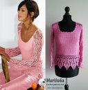 crochet lace pineapple pullover sweater pattern pdf