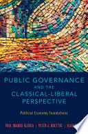 Public Governance and the Classical Liberal Perspective Book PDF