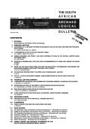 The South African Archaeological Bulletin Book