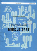 Accessions List  Middle East