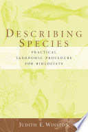 Describing Species Book PDF