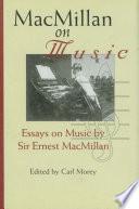 MacMillan on Music