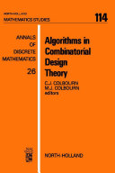 Algorithms in Combinatorial Design Theory