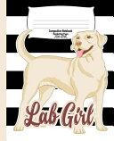 Labrador Handwriting Notebook for Kids  Lab Girl Book