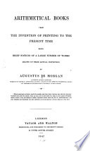 Arithmetical Books from the Invention of Printing to the Present Time Book
