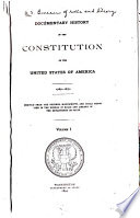 Documentary History of the Constitution of the United States of America