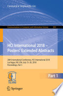 HCI International 2018     Posters  Extended Abstracts