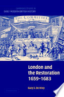 London and the Restoration  1659   1683