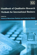 Handbook of Qualitative Research Methods for International Business