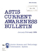 A S T I S Current Awareness Bulletin Book PDF