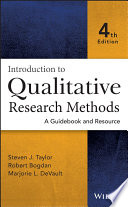 Introduction to Qualitative Research Methods Book
