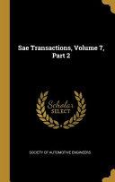 Sae Transactions  Volume 7