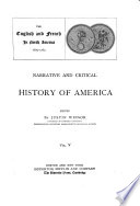 The English and Frenchin North America  1689 1763  1887
