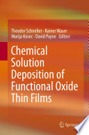 Chemical Solution Deposition Of Functional Oxide Thin Films Book PDF