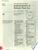 Implementation of Helsinki Final Act