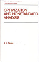 Optimization and Nonstandard Analysis