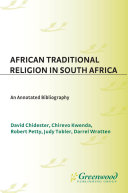 African Traditional Religion in South Africa  An Annotated Bibliography