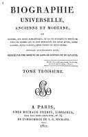 Biographie universelle, ancienne et moderne, etc