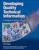 Developing Quality Technical Information ebook
